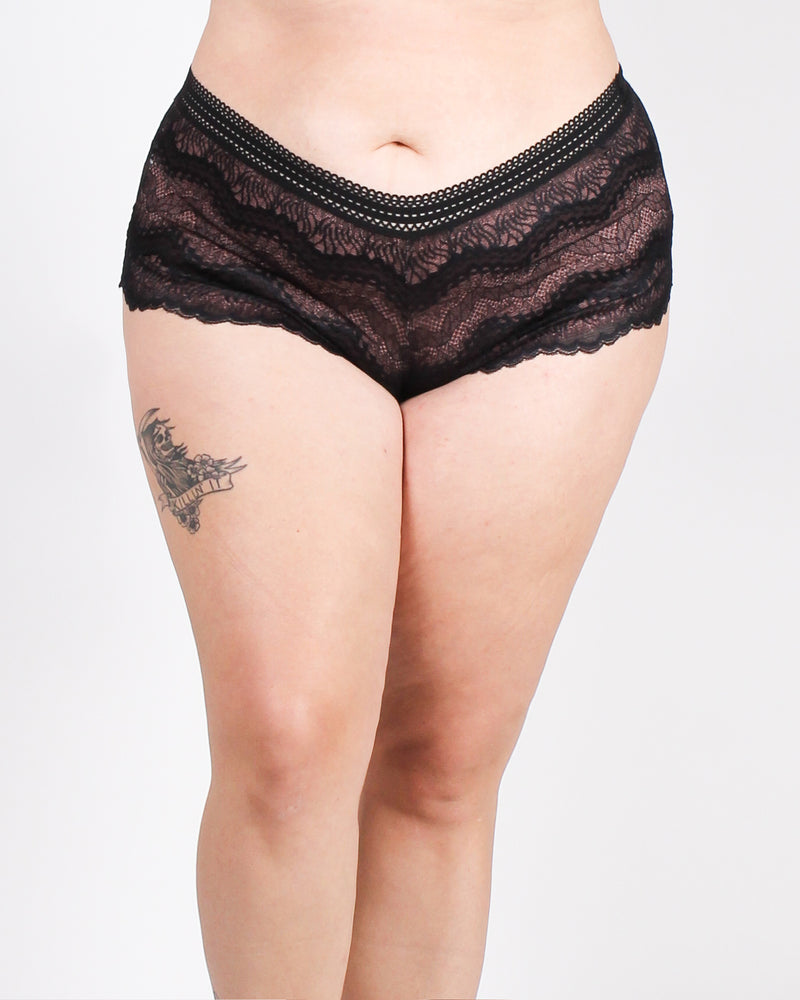 Waves of Ecs-lacy Plus Panties (Black)
