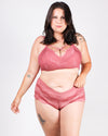 The Good Lace Plus Bralette (Hibiscus Pink)