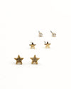 Fashion Q Shop Q Look at the Stars, They Shine for You Set of Gold Studs 82047P