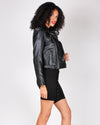 Fashion Q Shop Q You Got Your Own Back Moto Jacket (Black) 8654JH