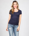 Fashion Q Shop Q The Q Basics: Round Neck Short Sleeve Top (Navy) 8755