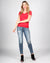 Fashion Q Shop Q The Q Basics: Round Neck Short Sleeve Top (Red) 8755