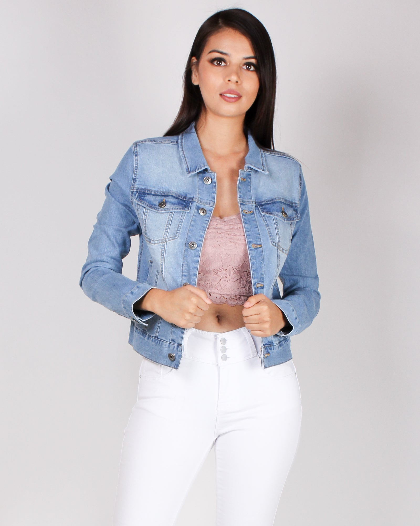 Fashion Q Shop Q Level Up Denim Jacket (Light) 8776JS