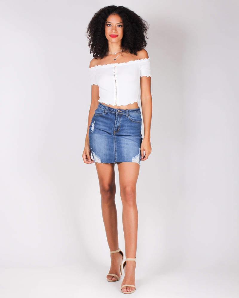 Fashion Q Shop Q Ciao Bella Denim Skirt (Medium) 90131