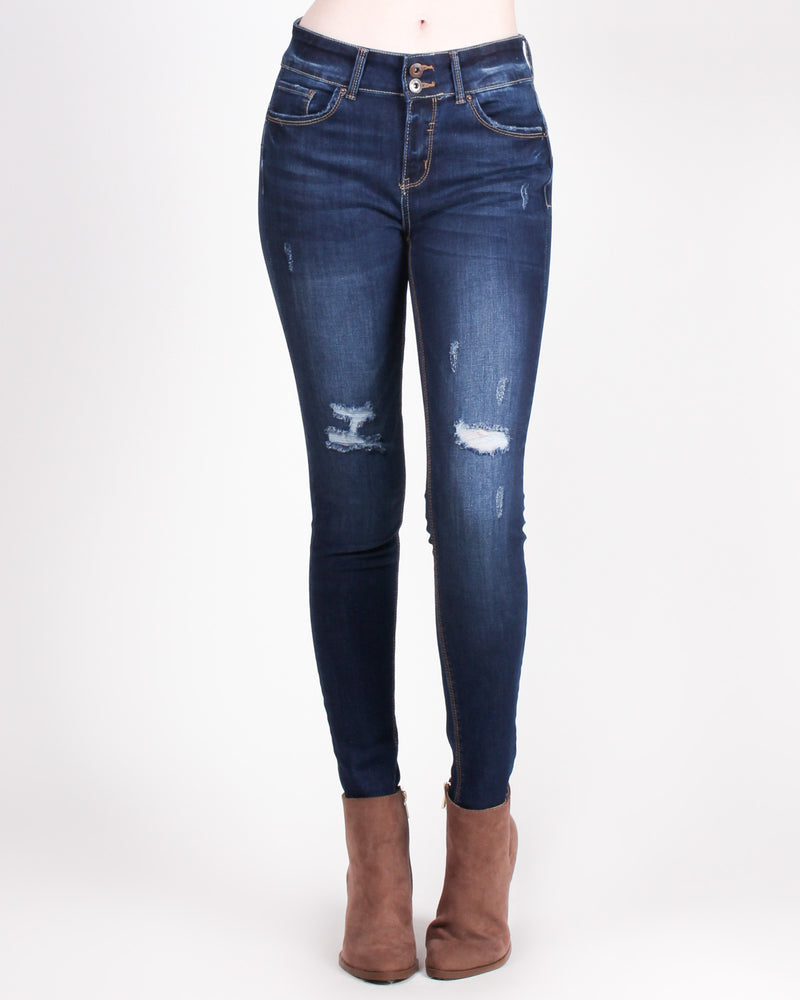Fashion Q Shop Q Back That Ass-et Skinny Jeans (Dark) 90135