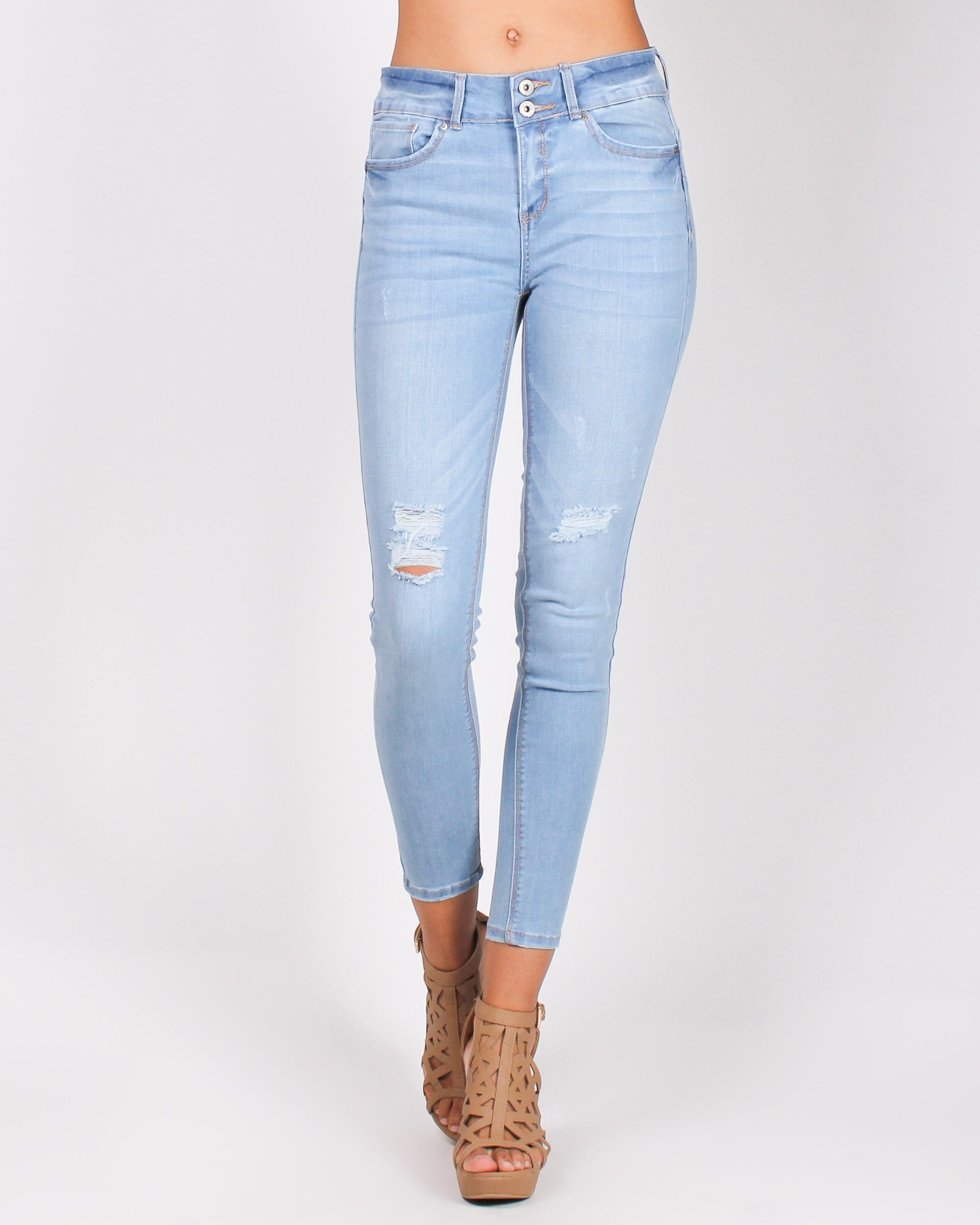 Fashion Q Shop Q Back That Ass-et Skinny Jeans (Light) 90135