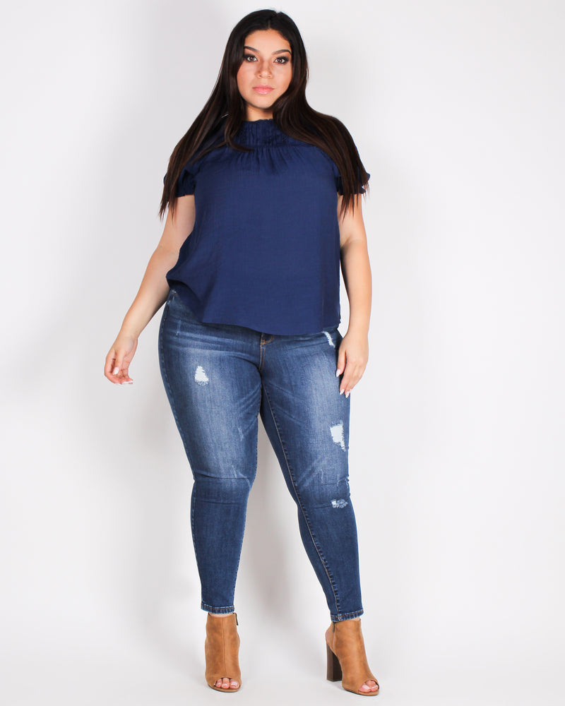 Fashion Q Shop Q What a Grand Adventure Plus Skinny Jeans (Dark) 90150XL
