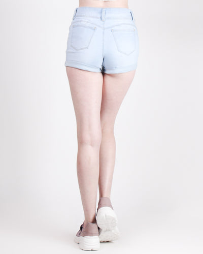 Fashion Q Shop Q Butt, We're Meant to Be Shorts (Light Wash) 90153