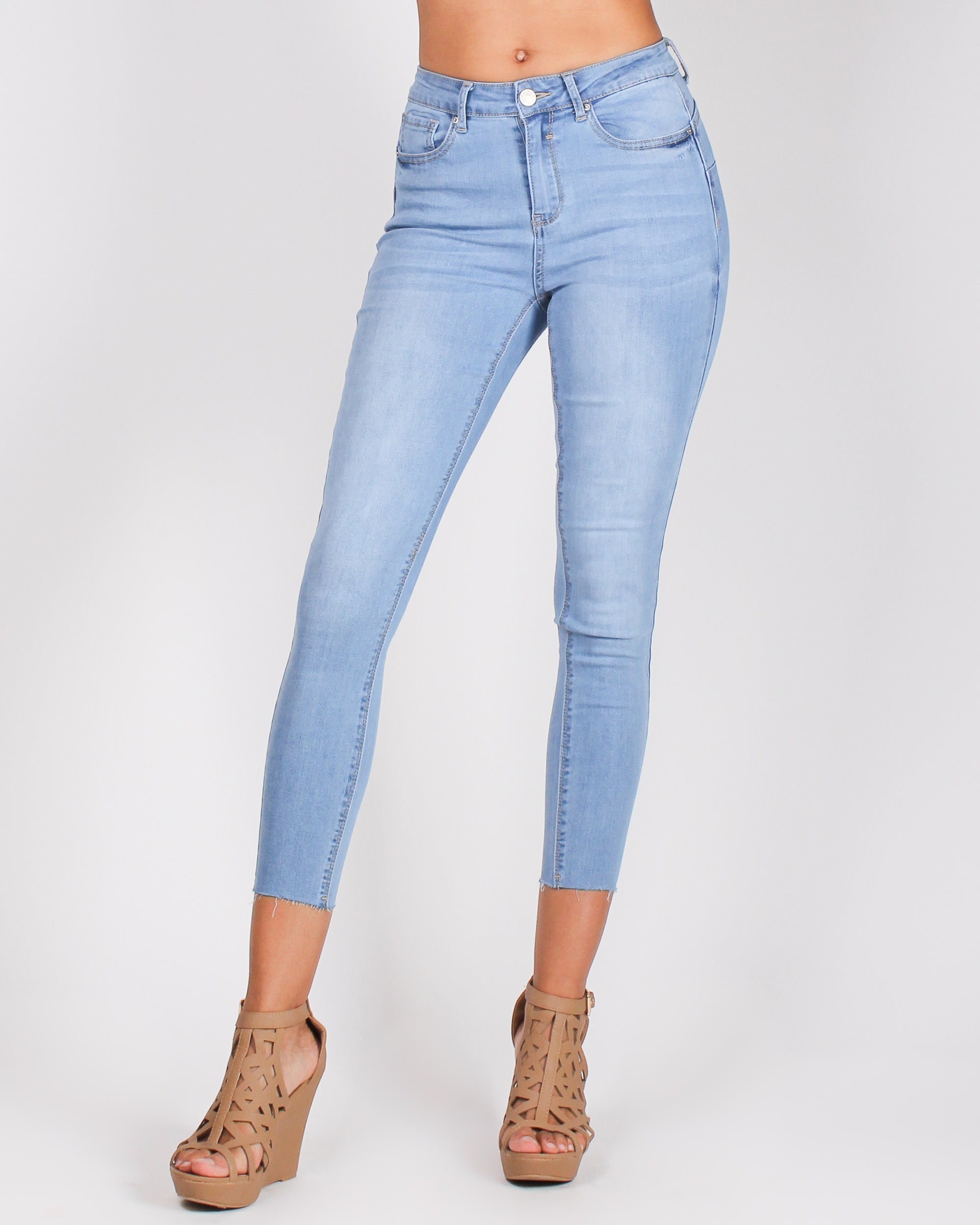 Fashion Q Shop Q Cutie with a Bootie Skinny Jeans (Light) 90158