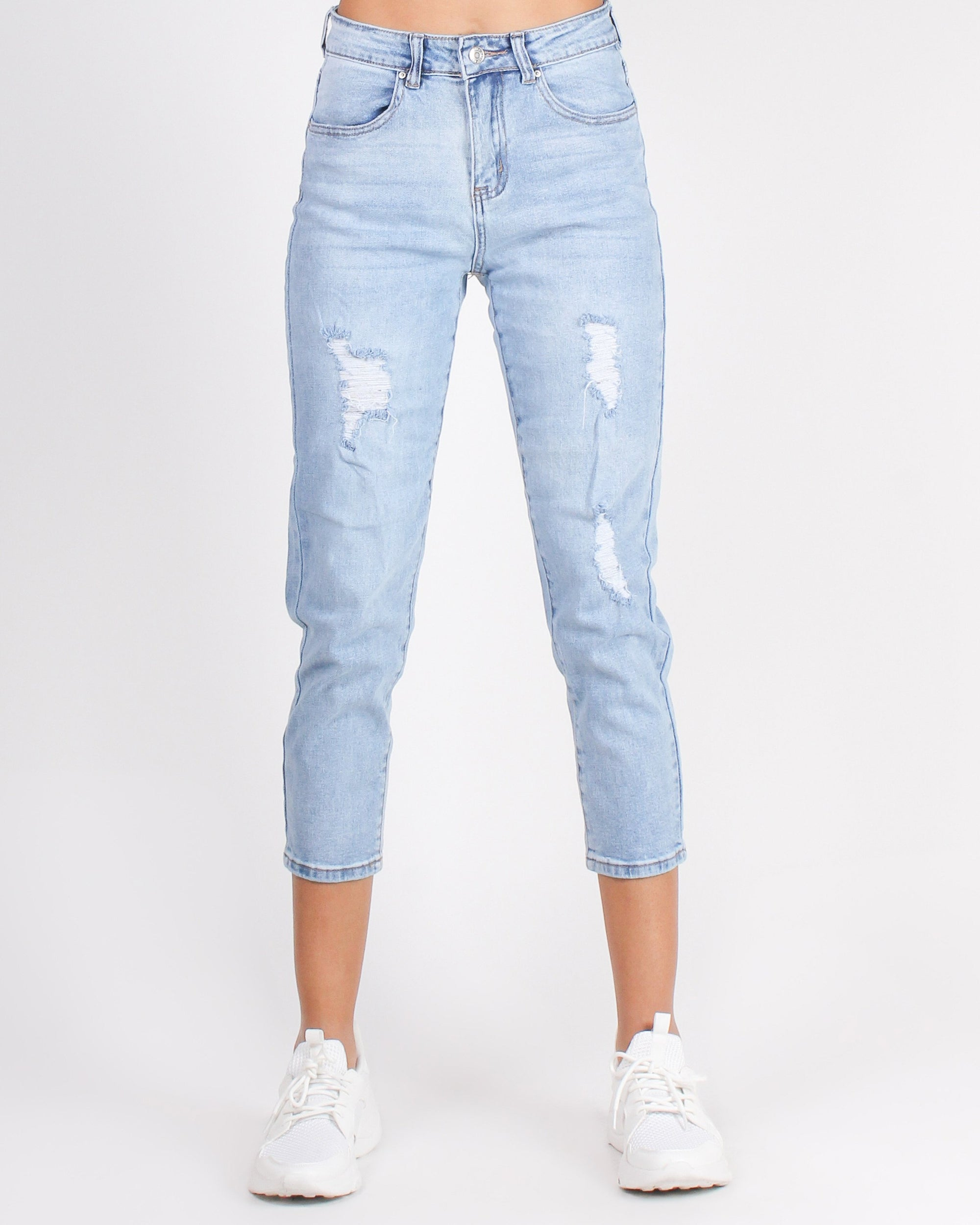 Fashion Q Shop Q Underestimate Me, That Will Be Fun Mom Jeans Light 90186