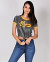 "Fashion Q Shop Q Oh ""Honey"" Hunty Tee (Black) 9037T01"