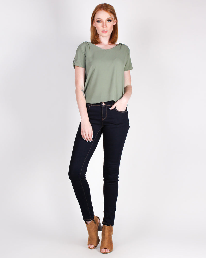 I'm Too Fabulous Push-Up Collection Jeans (Dark)