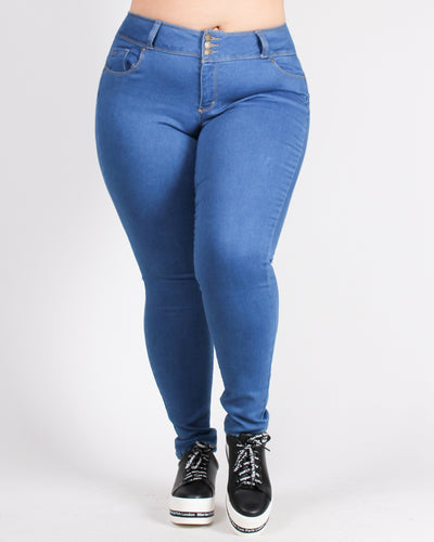 I'm Too Fabulous Push-Up Collection Plus Jeans (Medium Wash)