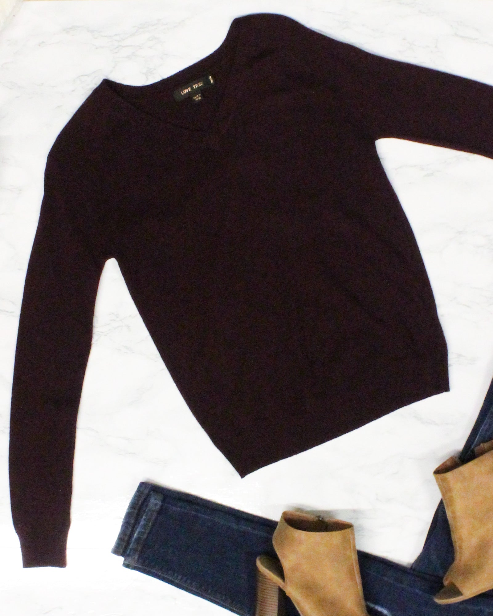 Fashion Q Shop Q Do it Right Sweater (Wine) 9355WY