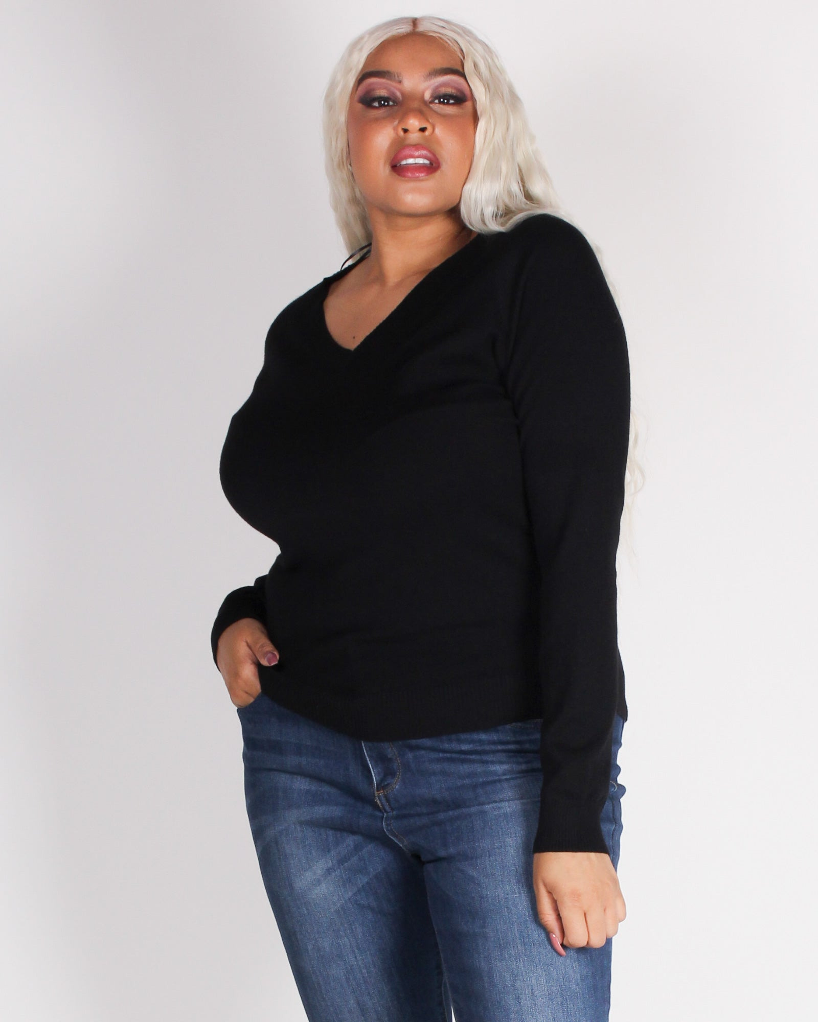 Fashion Q Shop Q Do it Right Plus Sweater (Black) 9355WYX