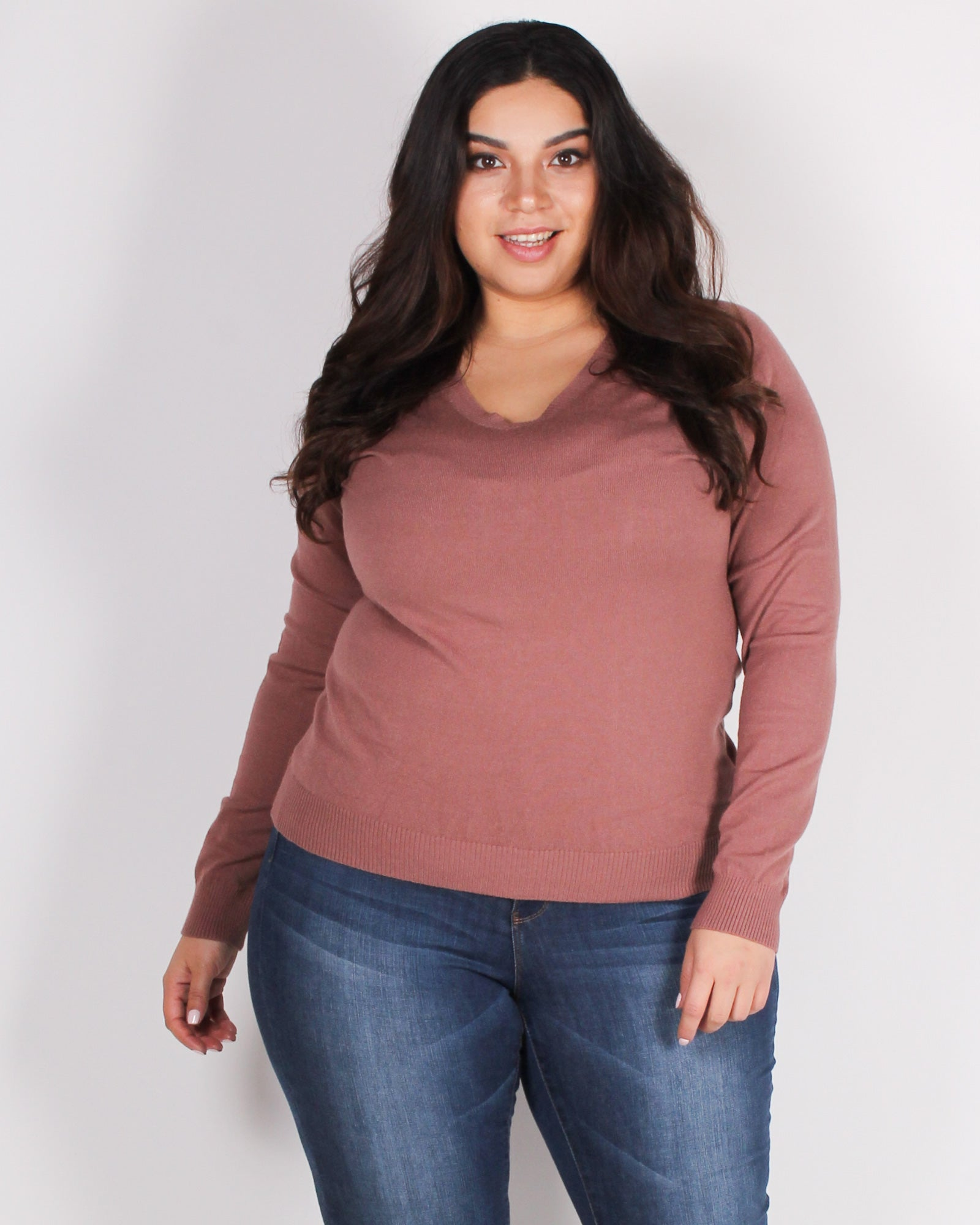 Fashion Q Shop Q Do it Right Sweater (Mauve) 9355WYX