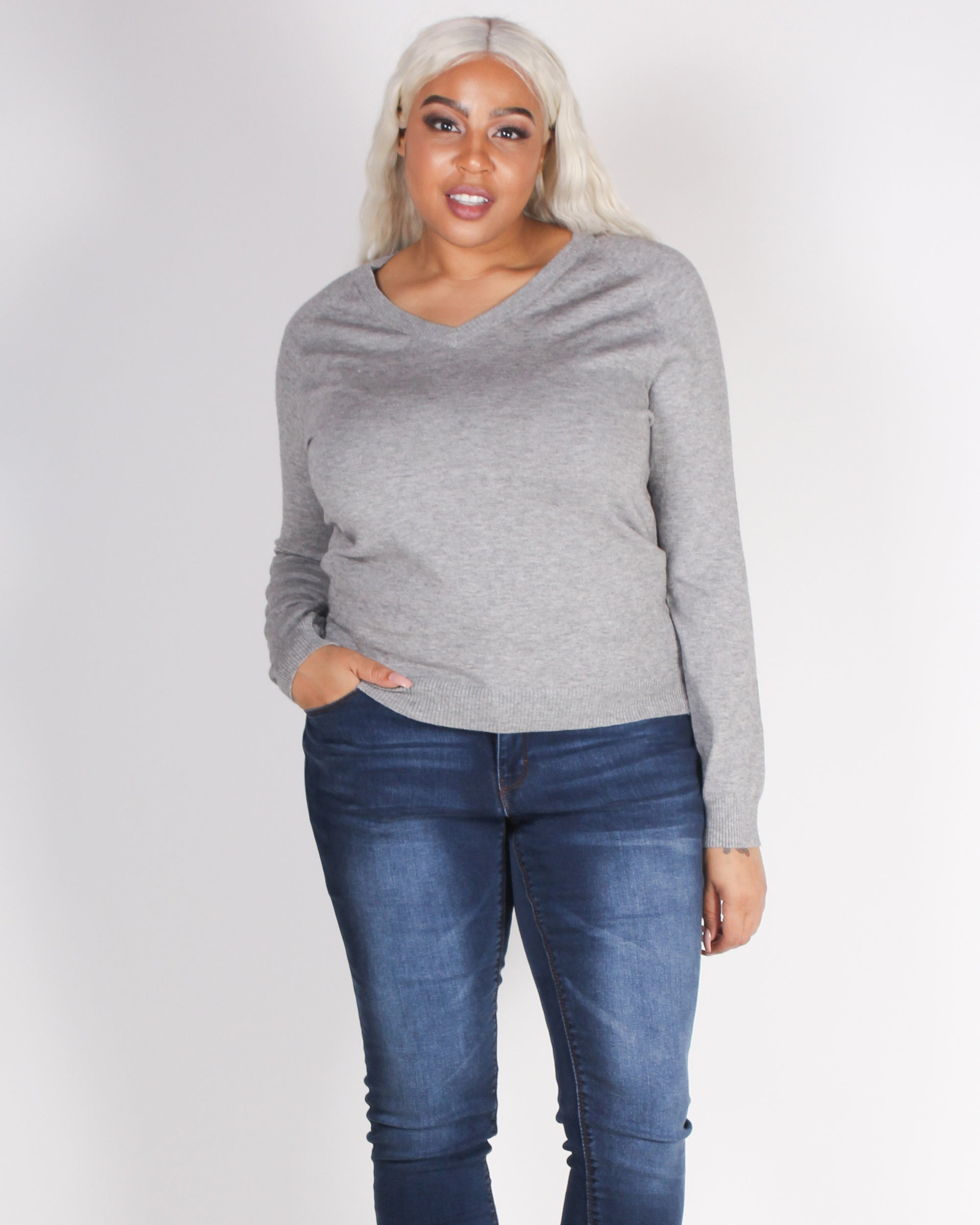 Fashion Q Shop Q Do it Right Sweater (Grey) 9355WYX