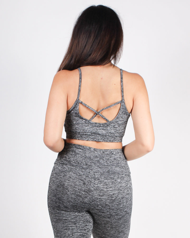 Fashion Q Shop Q Dear Self, This is Your Year Sports Bra (Grey) AT61620