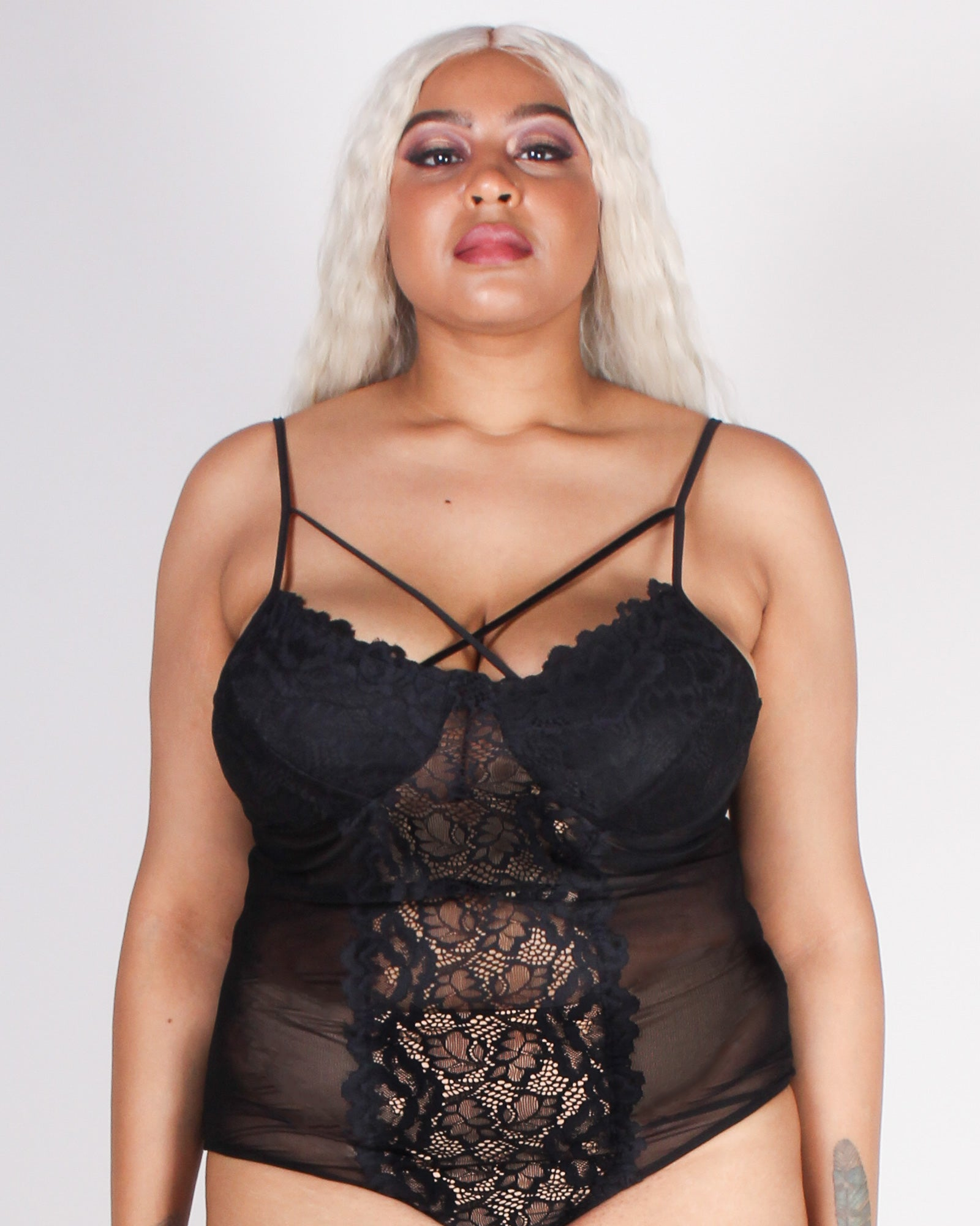 Fashion Q Shop Q Vibin' the Picture Perfect Bodysuit B3380 (Black)