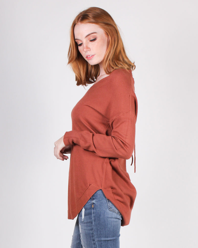 Fashion Q Shop Q Shine Your Own Light Sweater (Rust) BE6605