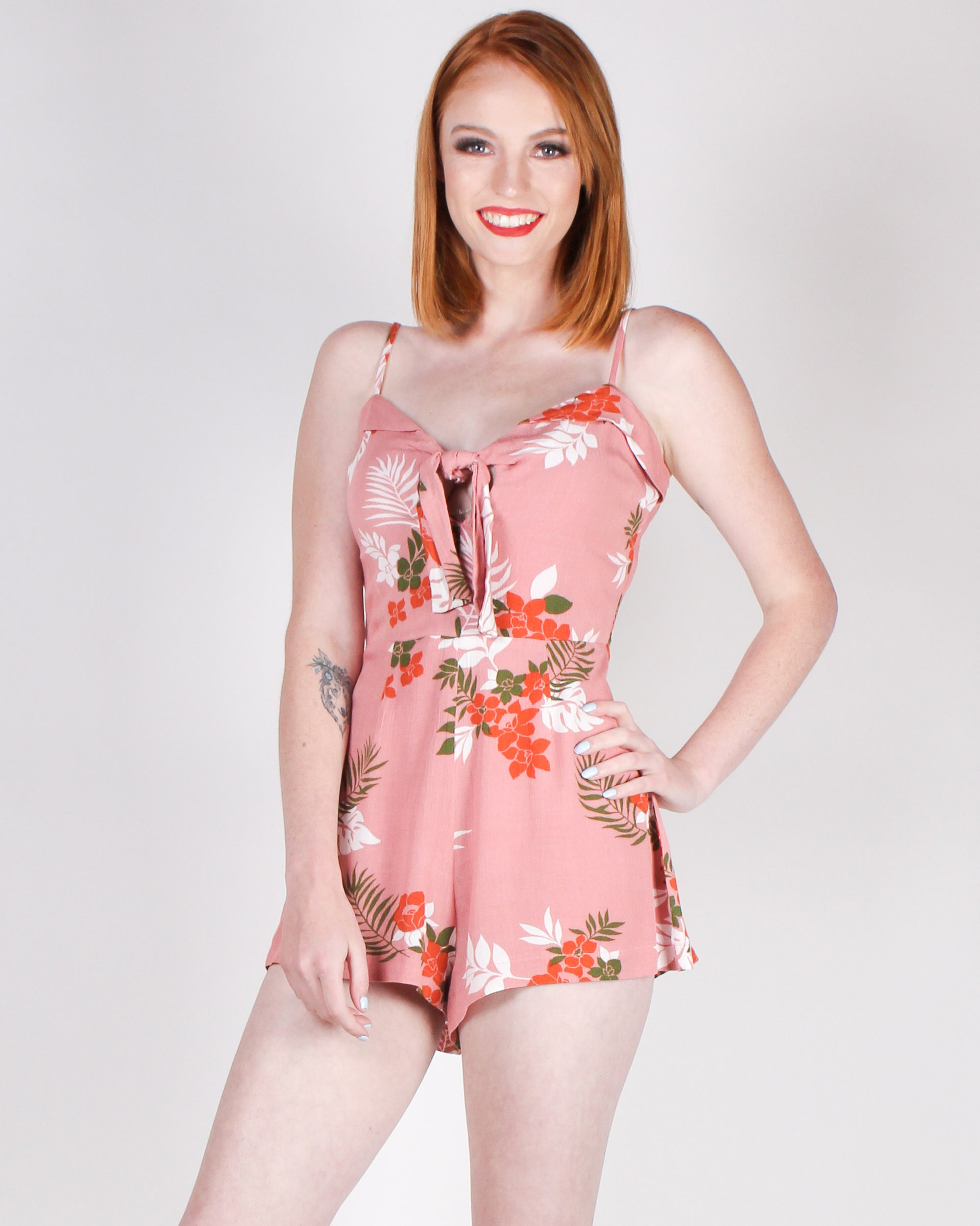 Fashion Q Shop Q Vacation Vibes Romper (Mauve) BE6816F