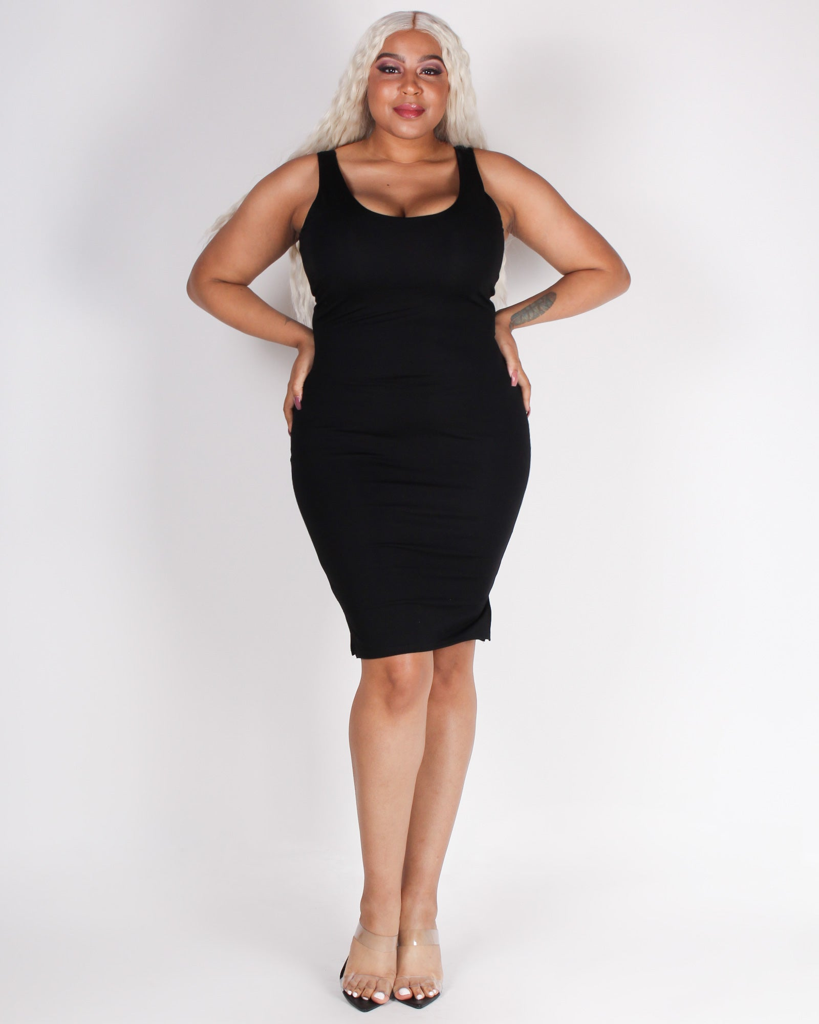 Fashion Q Shop Q You+Me = Awesome Bodycon Dress BLD1414 Black