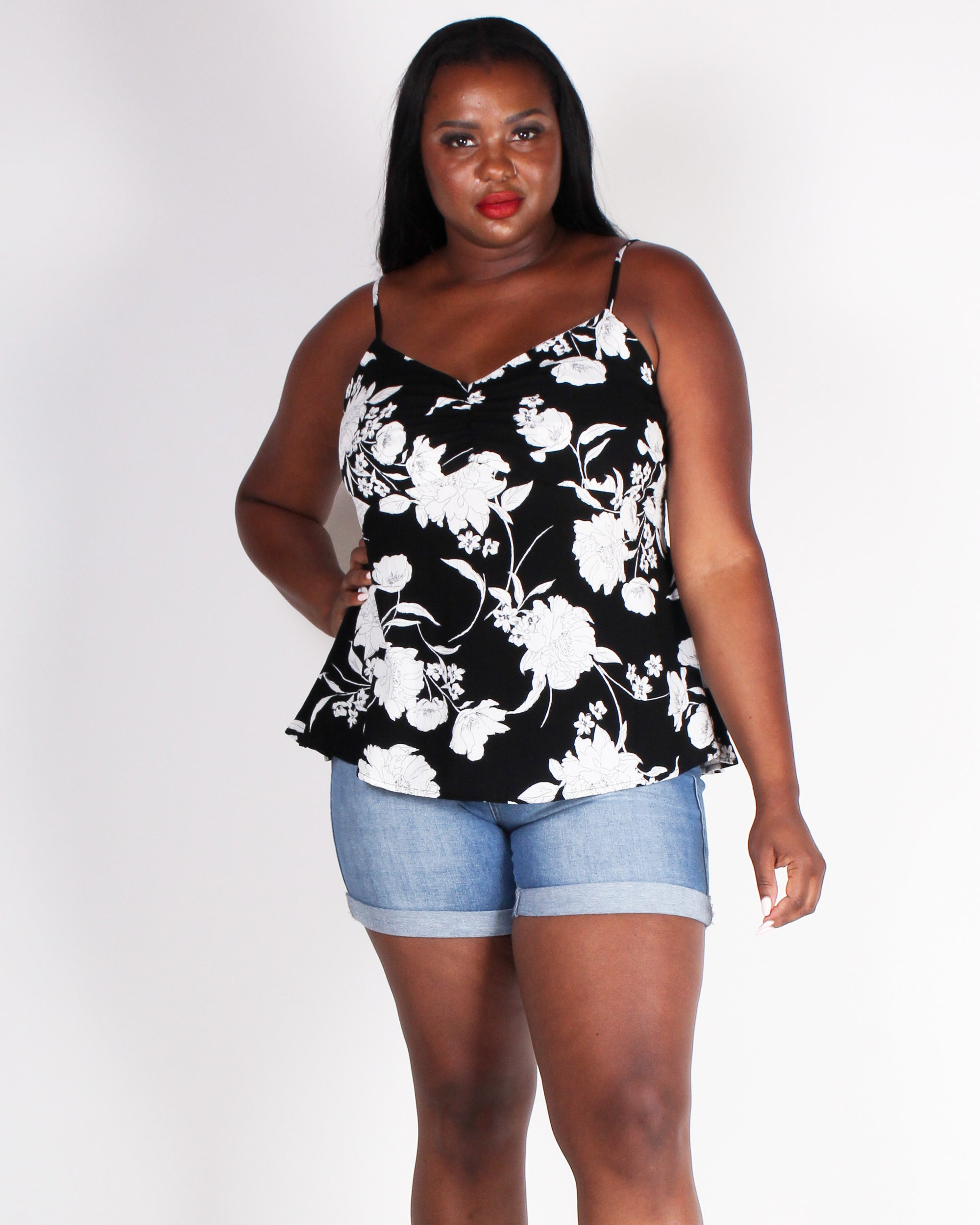 Fashion Q Shop Q Change Yo' Life Babydoll Plus Tank (Black) BLT3168