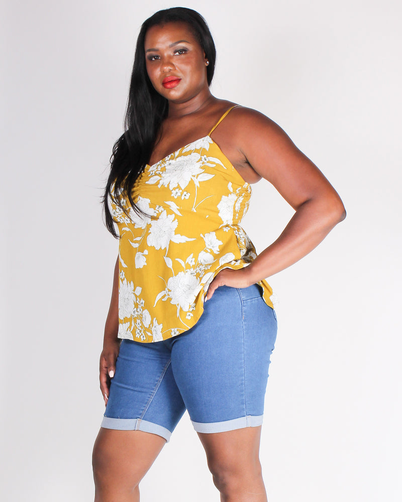 Fashion Q Shop Q Change Yo' Life Babydoll Plus Tank (Mustard) BLT3168
