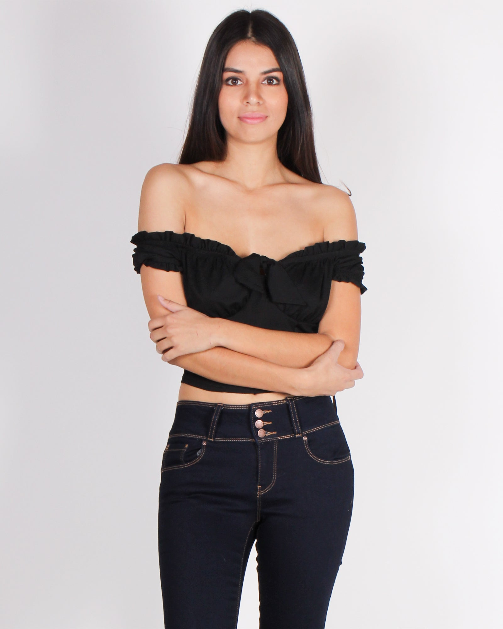 Fashion Q Shop Q Another Adventure Crop Top (Black) BT01518
