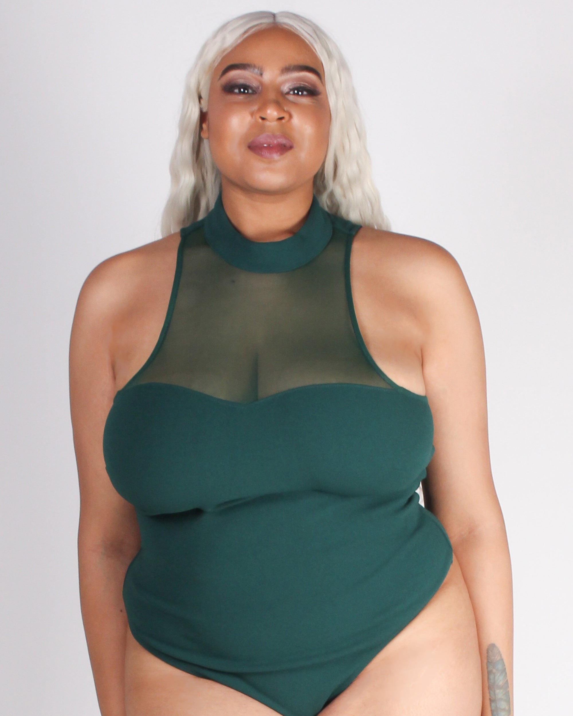 Fahion Q Shop Q I Knew You Were the One Plus Bodysuit (Hunter Green) CB51209P