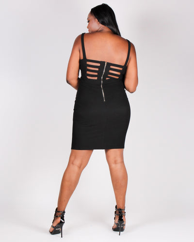Sorry, Out Living the Dream Bodycon Dress (Black)