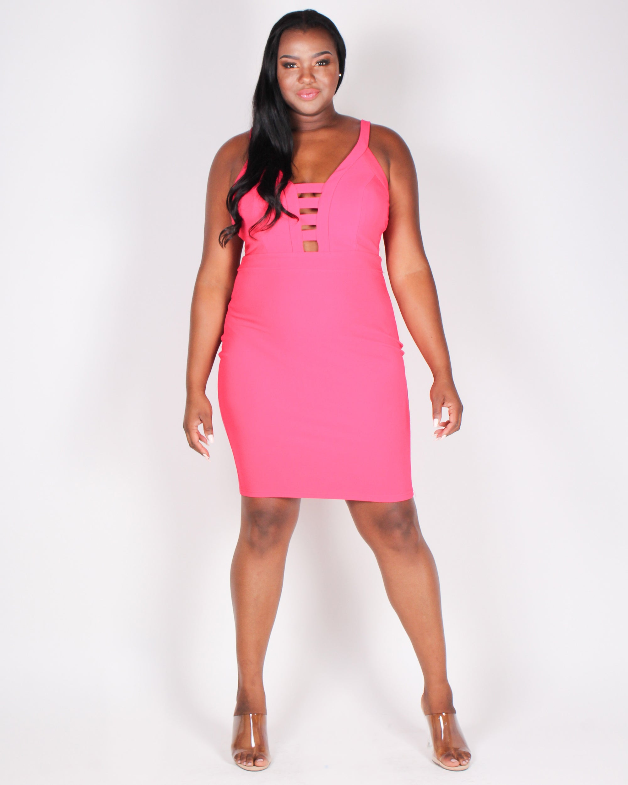 Sorry, Out Living the Dream Bodycon Dress (Coral)