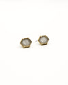 Fashion Q Shop Q Make Your Day Sparkle Grey Studs CE-1203