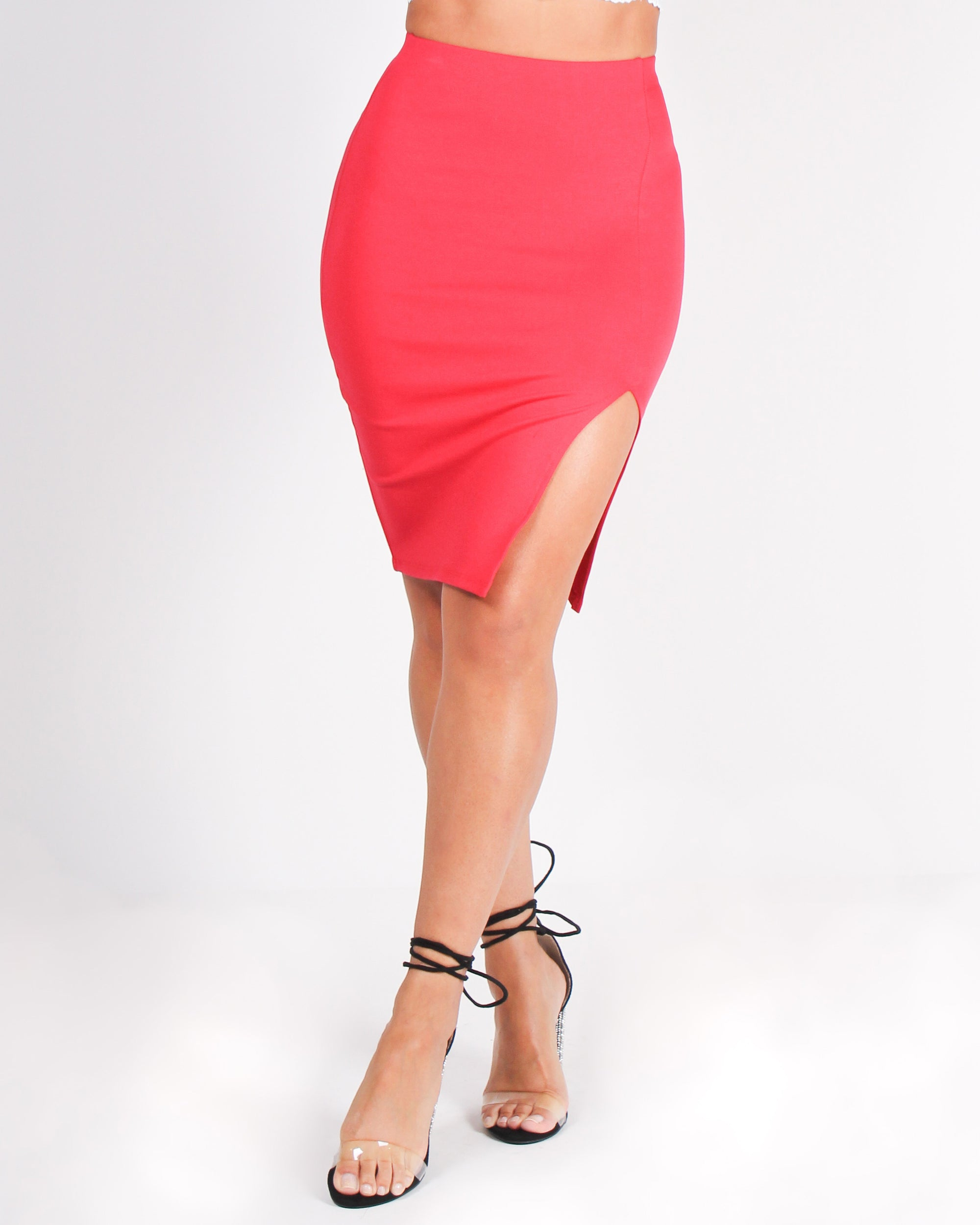 Fashion Q Shop Q The Evolution of You Pencil Skirt (Red) CH3148