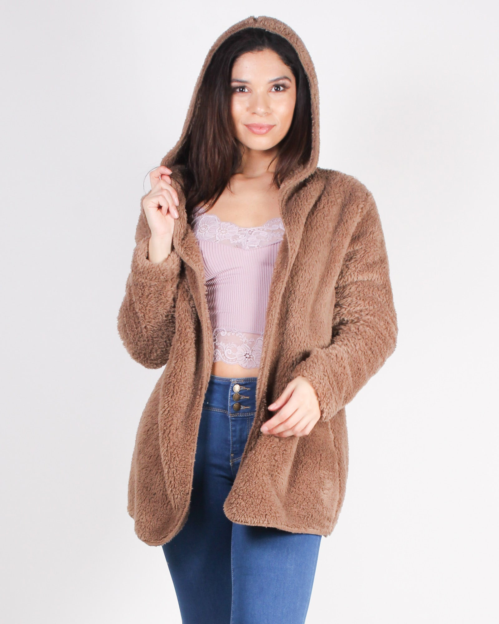 Fashion Q Shop Q Be You. Do You. Fur You Jacket (Mocha) CLJ0002