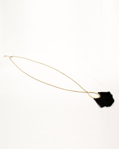 Fashion Q Shop Q Fringe Benefits Black Necklace CN4109