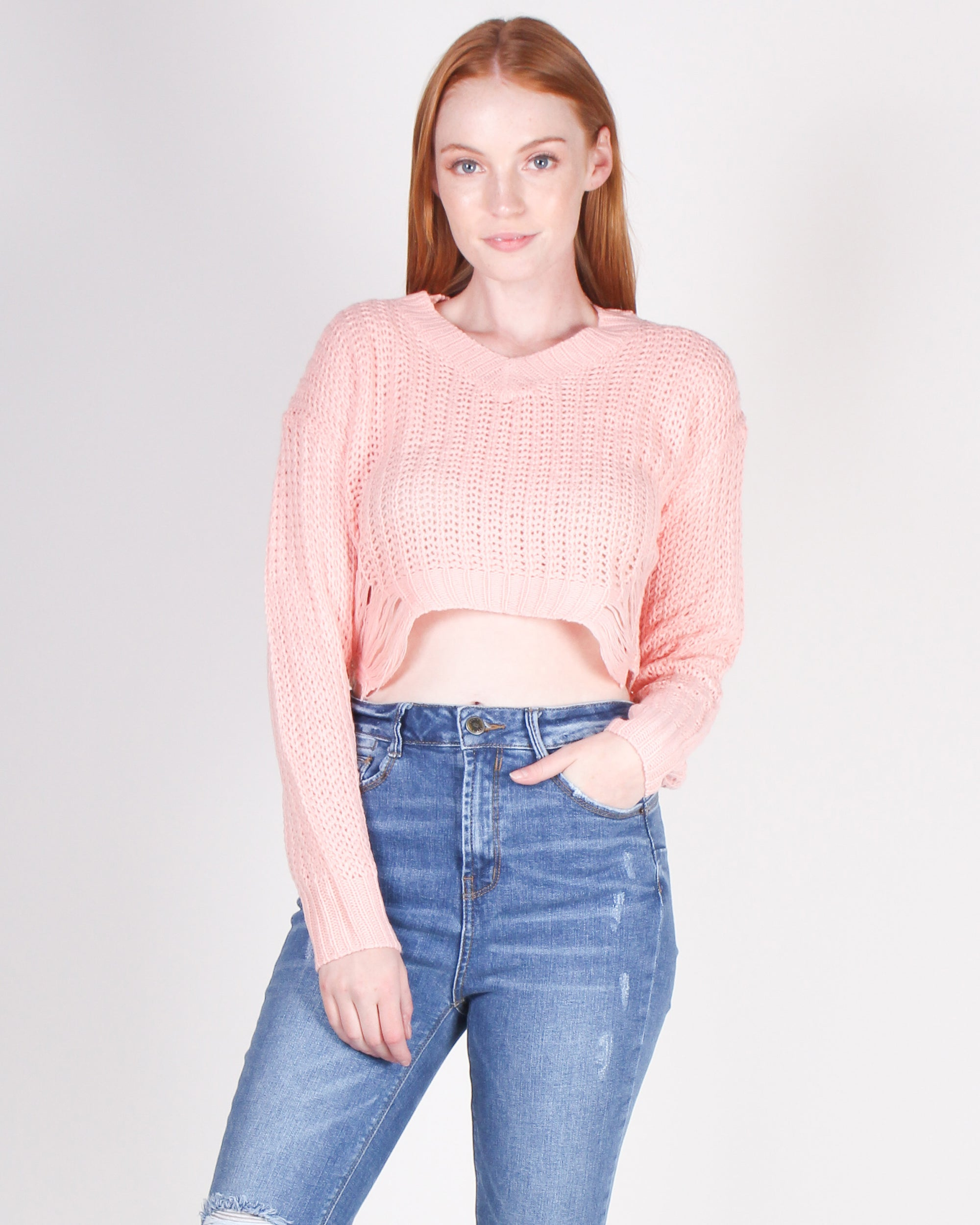 Fashion Q Shop Q Let Your Life Be Your Art Cropped Sweater (Bubblegum Pink) CNSW23