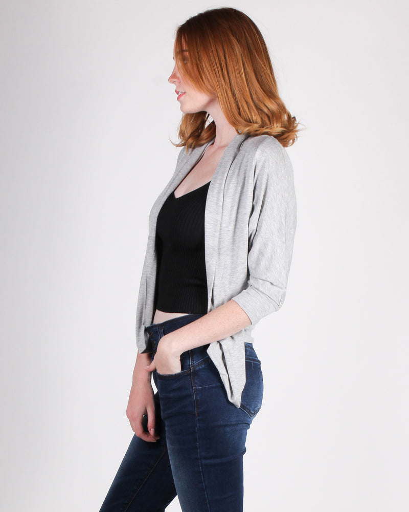 Fashion Q Shop Q This is What You Came For Cardigan (Heather Grey) CZ5763