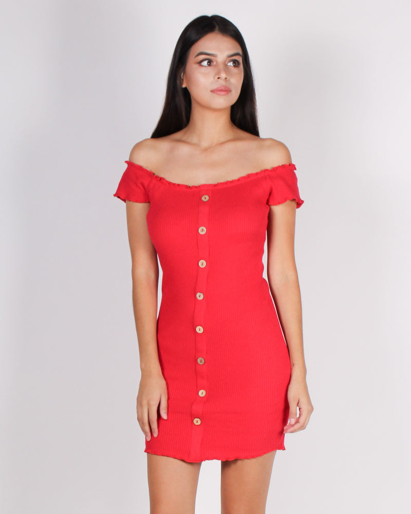Fashion Q Shop Q Full of Life Bodycon Dress (Red) D10996