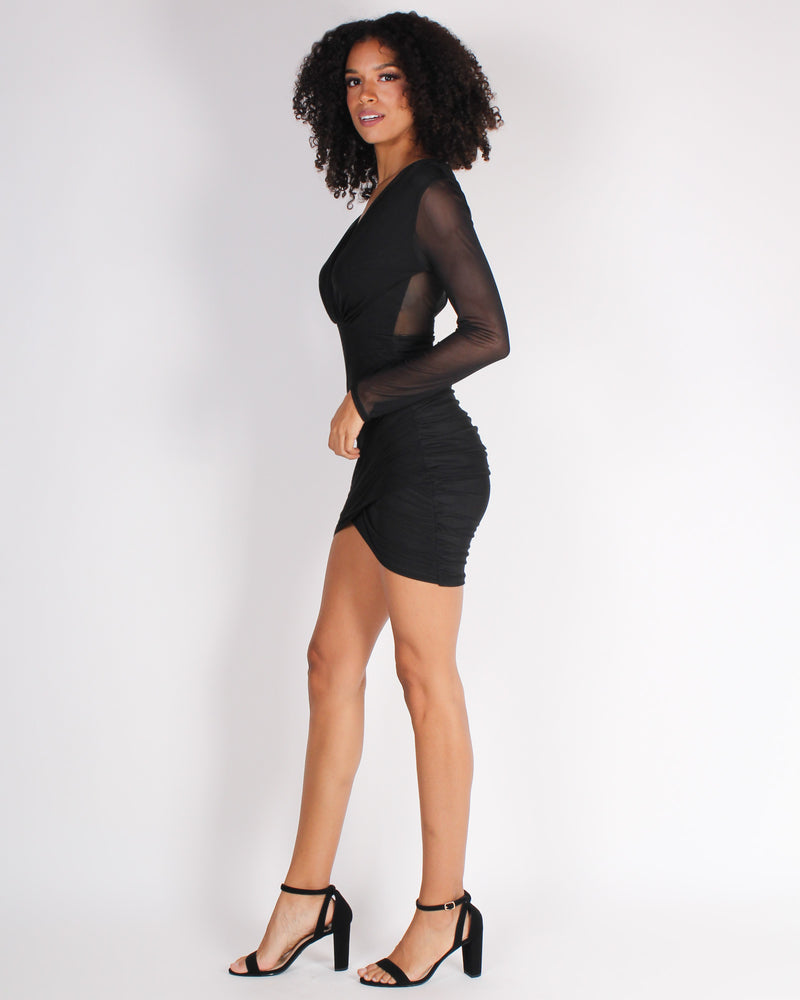 We're Better Together Bodycon Dress (Black)