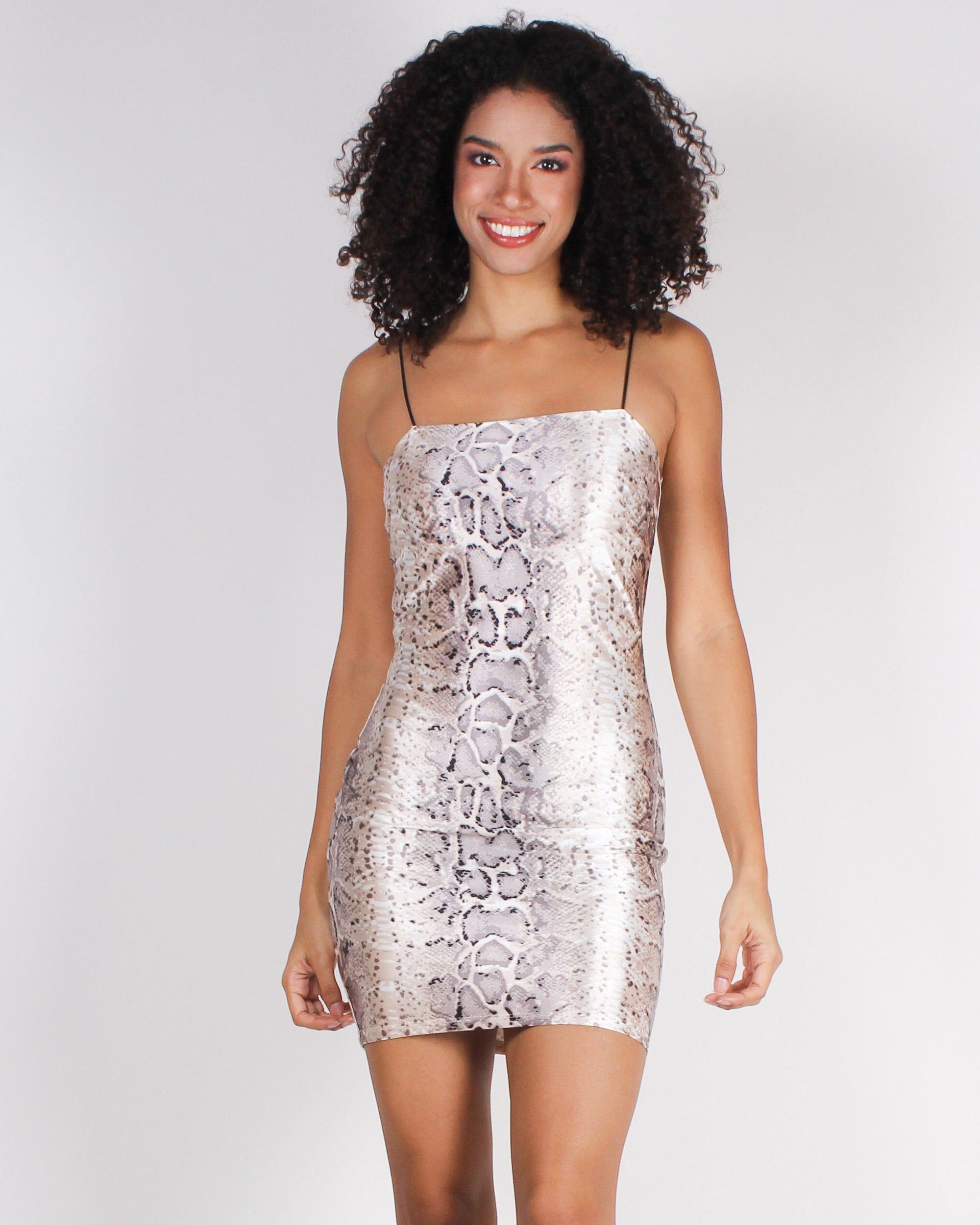 Fashion Q Shop Q Point Me to the Nearest Club Bodycon Dress (Snakeskin) D2377