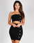 Looks Like Wine o'Clock Bodycon Dress (Black)