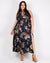 Fashion Q Shop Q Never Underestimate the Power of Floral Plus Maxi Dress (Navy) D2575X