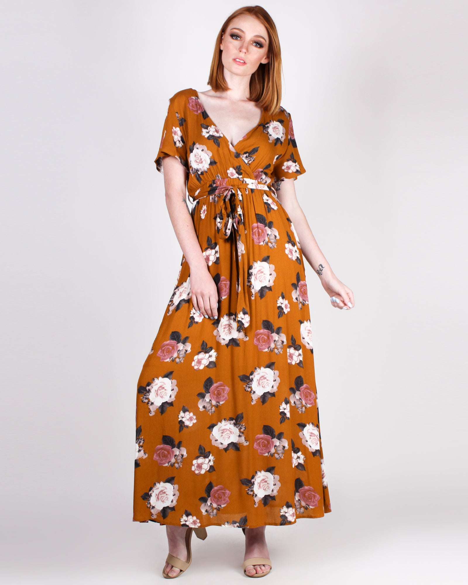 Everyday has New Magic Floral Maxi Dress