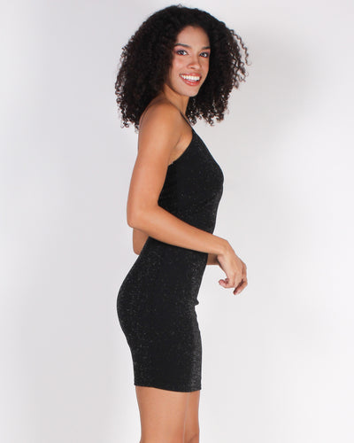 Fashion Q Shop Q Make the World Sparkle Bodycon Dress (Black) D3127-51