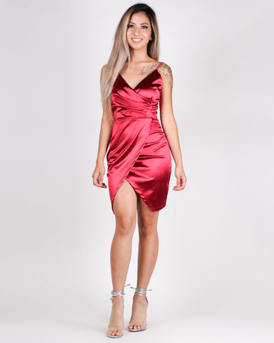 This is Just the Beginning Bodycon Dress (Wine)