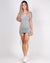 Radiate Positivity Ruched Bodycon Dress (Grey)