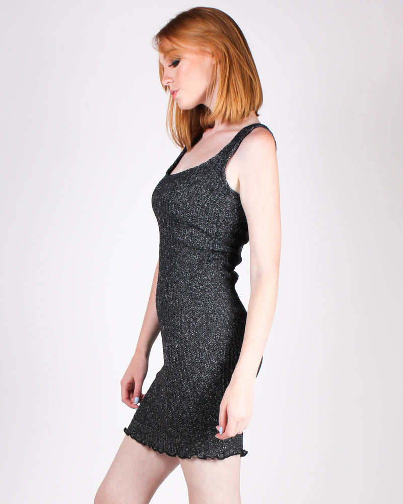 Hella Sweet Knit Bodycon Dress (Black)