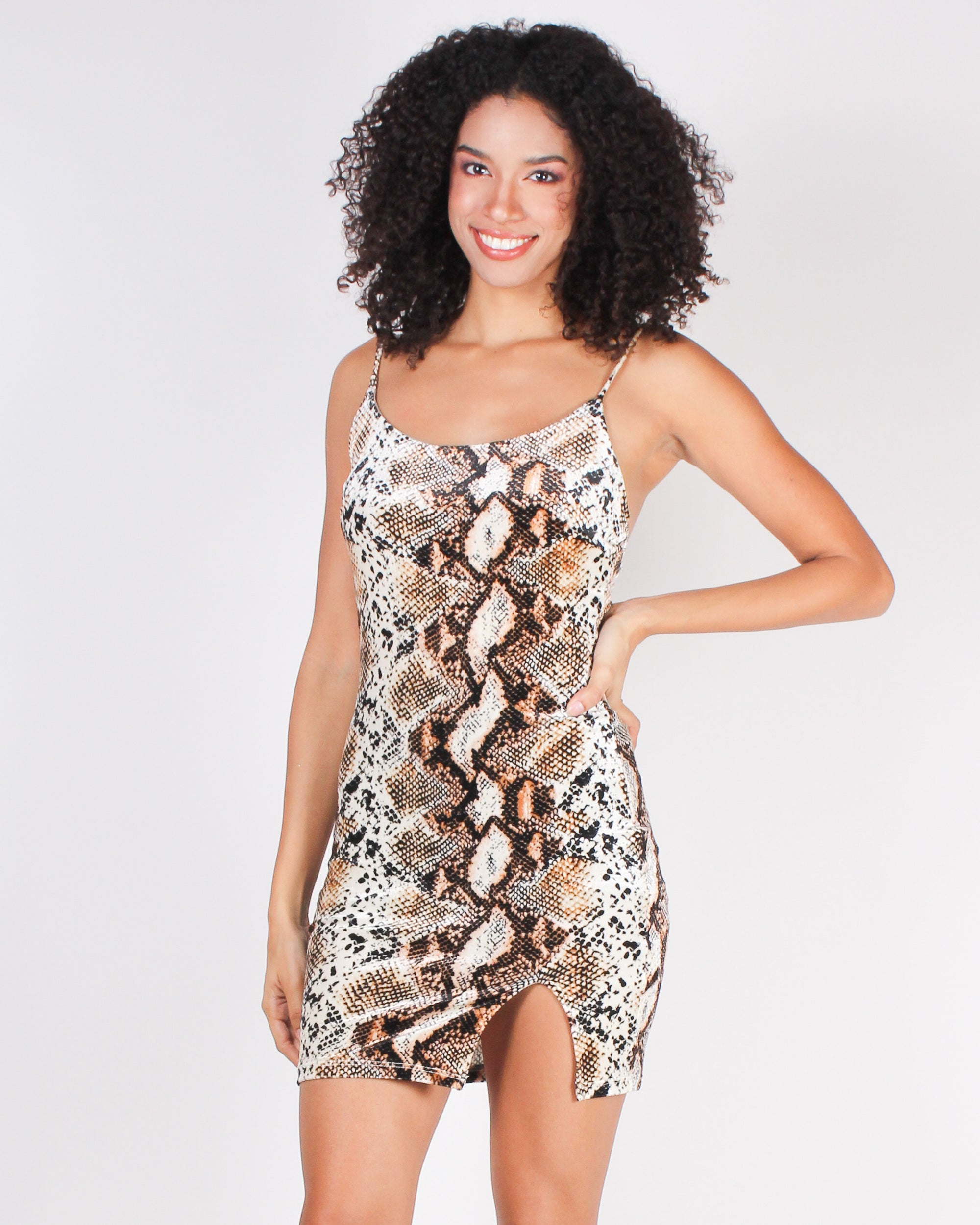 Fahion Q Shop Q Snake Print is the New Black Bodycon Dress (Snakeskin) D7697DQF