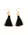 Fashion Q Shop Q Find Your Wild Black Tassel Earrings DFE-0031